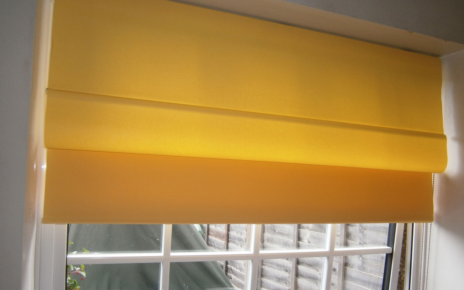 Yellow Faux Roman Blind Surrey Blinds Shutters In Yellow Roman Blinds (Image 15 of 15)
