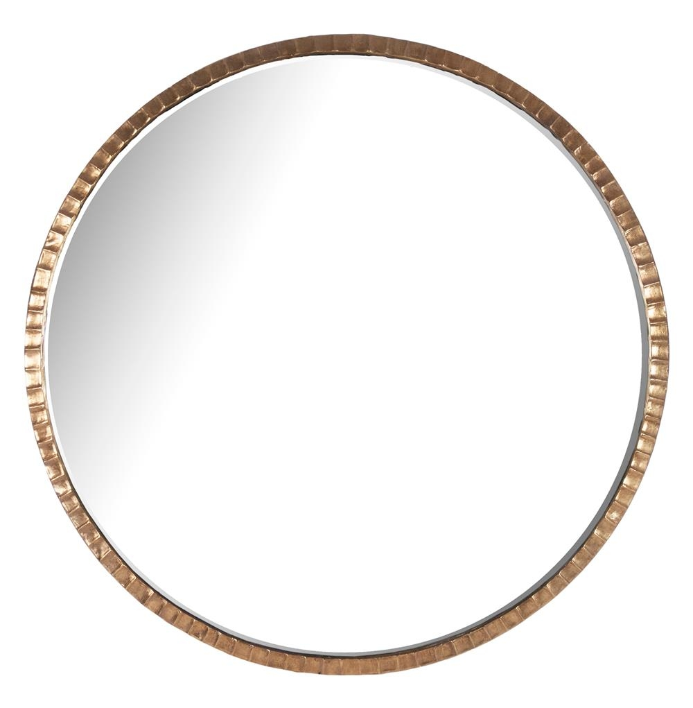 Yorkville Hollywood Regency Large Thin Round Wall Mirror Kathy For Round Mirror Large (Image 15 of 15)