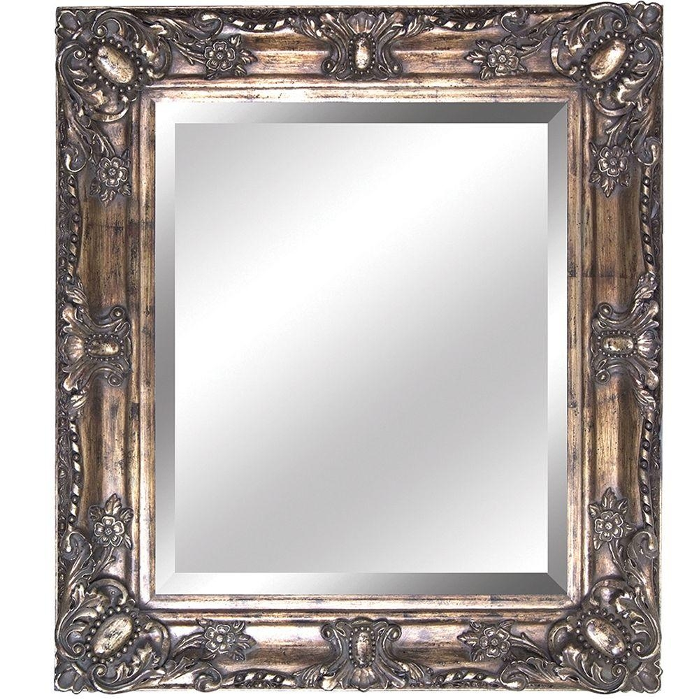 Yosemite Home Decor 27 In X 31 In Rectangular Decorative Antique For Antique Mirrors For Bathrooms (View 6 of 15)