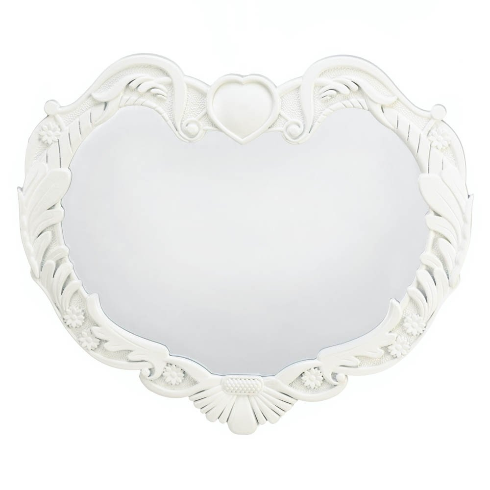 Zingz Thingz Angel Heart Wall Mirror Reviews Wayfair Intended For Heart Wall Mirror (Image 14 of 15)
