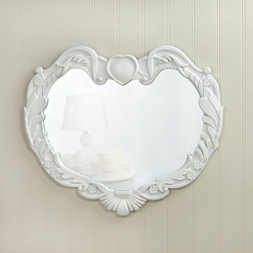 Zingz Thingz Angel Heart Wall Mirror Reviews Wayfair Throughout Heart Wall Mirror (Image 15 of 15)
