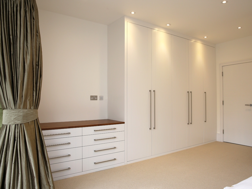 1 Bespoke Built In Fitted Wardrobe White Chest Drawers Modern With Drawers For Fitted Wardrobes (Image 1 of 15)
