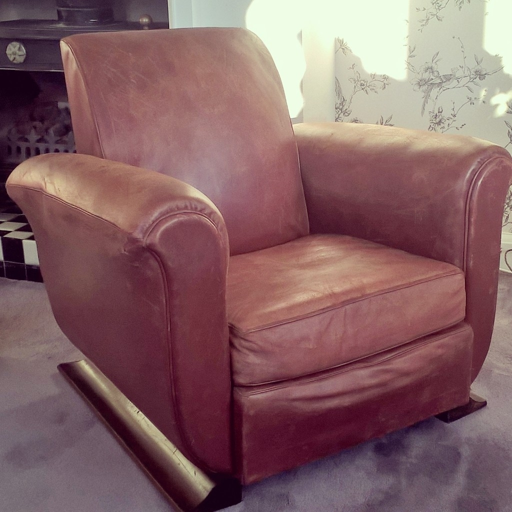 1930s Leather Club Chair Relfs Relics Within 1930s Couch (Image 3 of 15)