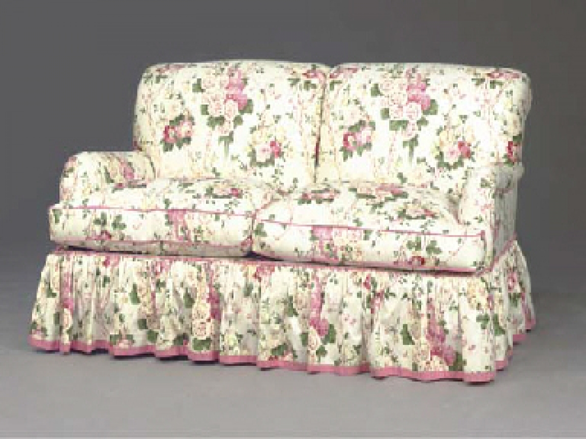2 Small 3 Seater Sofas In Fawn Floral Fabric In Belfast City For Chintz Sofas And Chairs (Image 1 of 15)