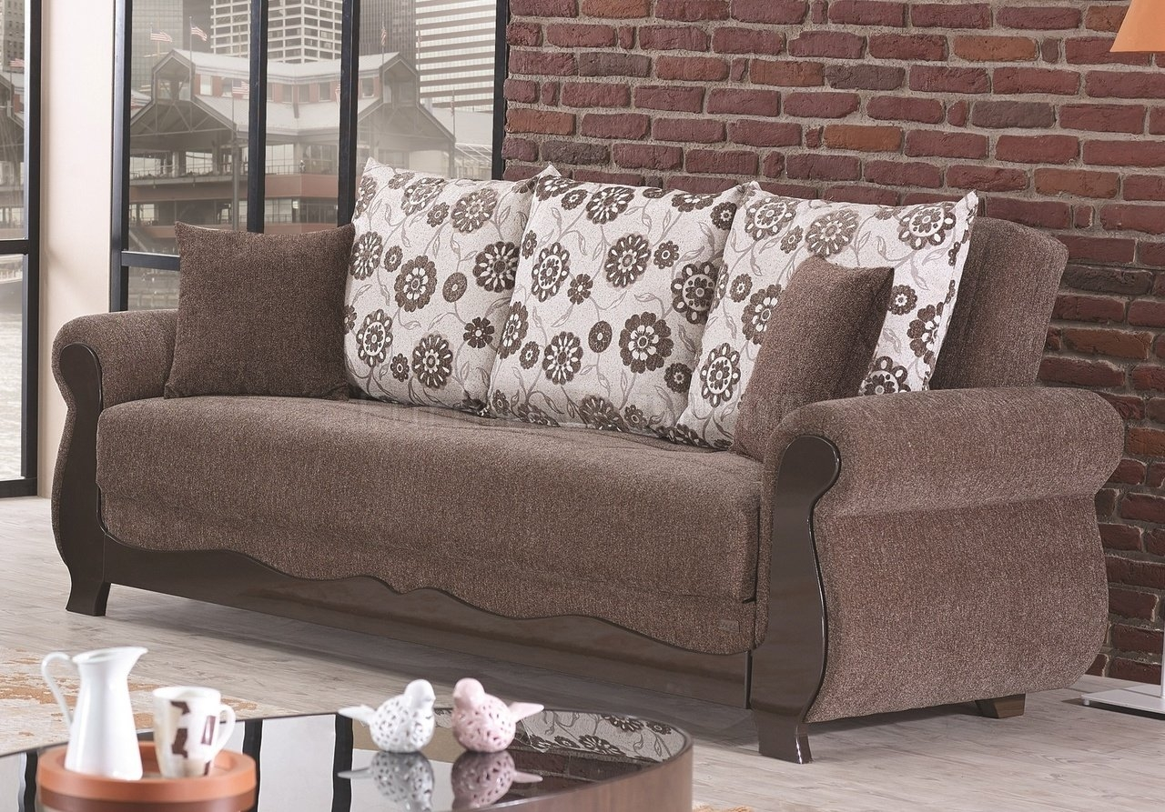 2 Small 3 Seater Sofas In Fawn Floral Fabric In Belfast City In Chintz Sofas And Chairs (Image 2 of 15)