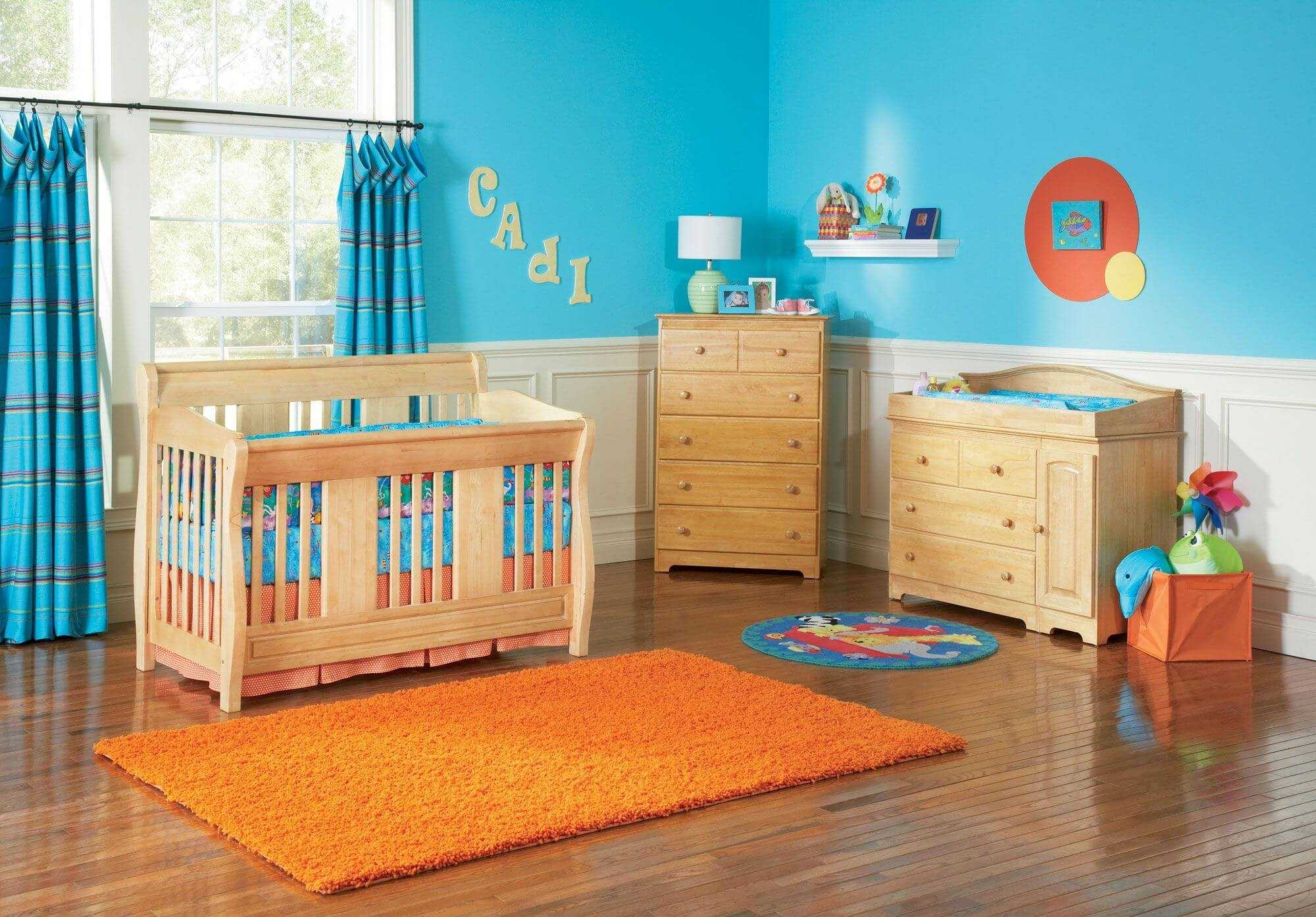 20 Ba Boy Nursery Ideas Themes Designs Pictures Intended For Blue Curtains For Boys Room (Image 1 of 25)