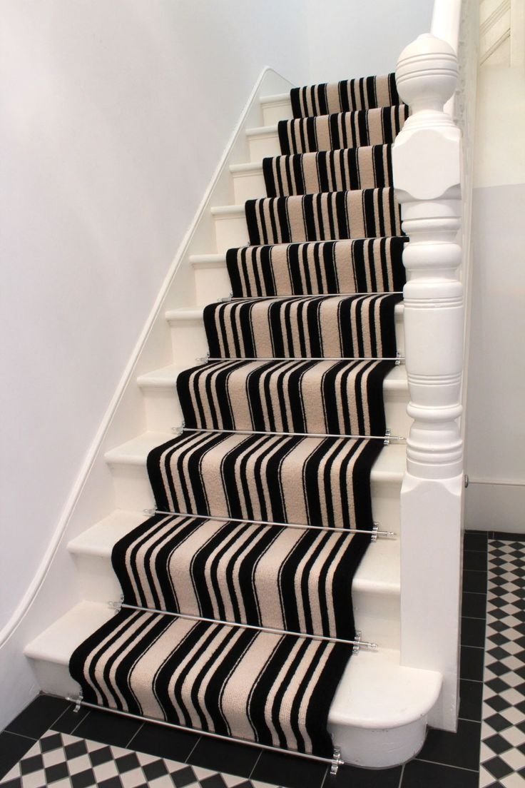 23 Best Stair Carpet Treadrunners Images On Pinterest For Stair Tread Carpet Rods (Image 2 of 15)