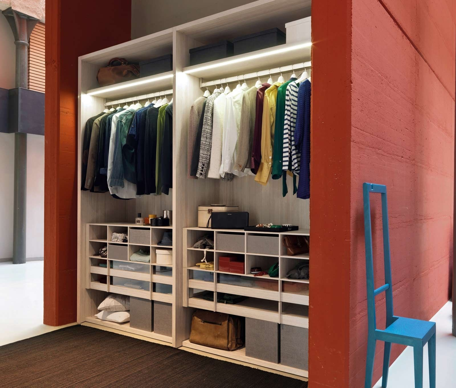 23 Design Ideas Space Saving Closet Closet Design Ideas Small Inside Space Saving Wardrobes (Image 1 of 25)
