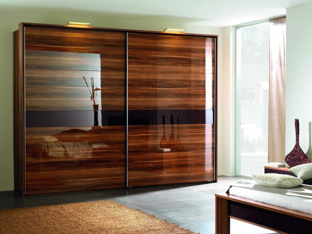 23 Stylish Closet Door Ideas That Add Style To Your Bedroom More With Solid Dark Wood Wardrobes (Image 1 of 15)