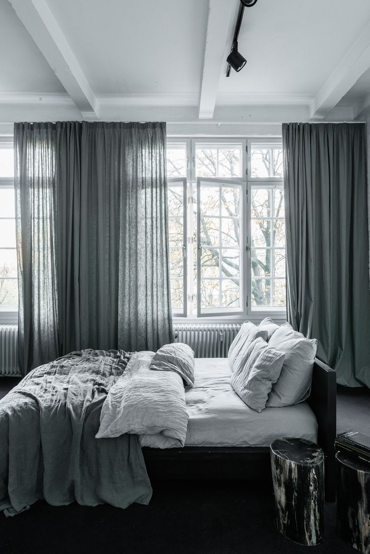 25 Best Linen Curtains Ideas On Pinterest Restoration Hardware Inside Dark Grey Sheer Curtains (Image 1 of 25)