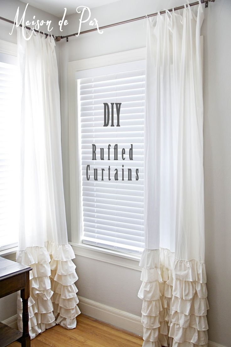 25 Best Ruffled Curtains Ideas On Pinterest Ruffle Curtains Inside White Ruffle Curtains (View 14 of 25)