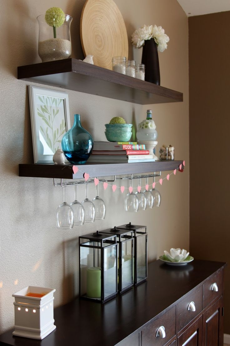 25 Best Wine Glass Shelf Ideas On Pinterest With Regard To Floating Glass Shelves For Bar (Image 1 of 15)
