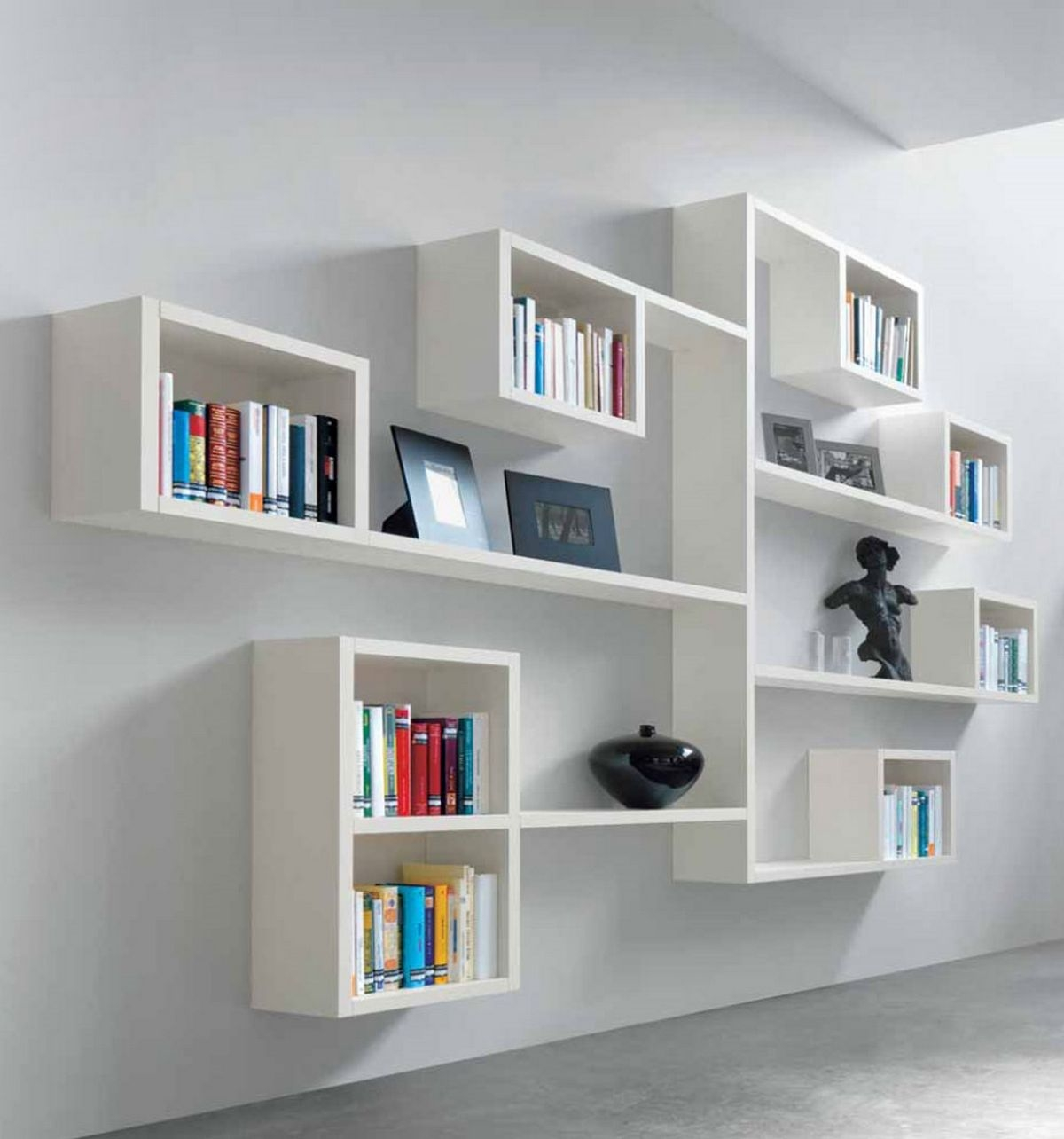 26 Of The Most Creative Bookshelves Designs Minimalist Book For Book Cabinet Design (Image 1 of 15)