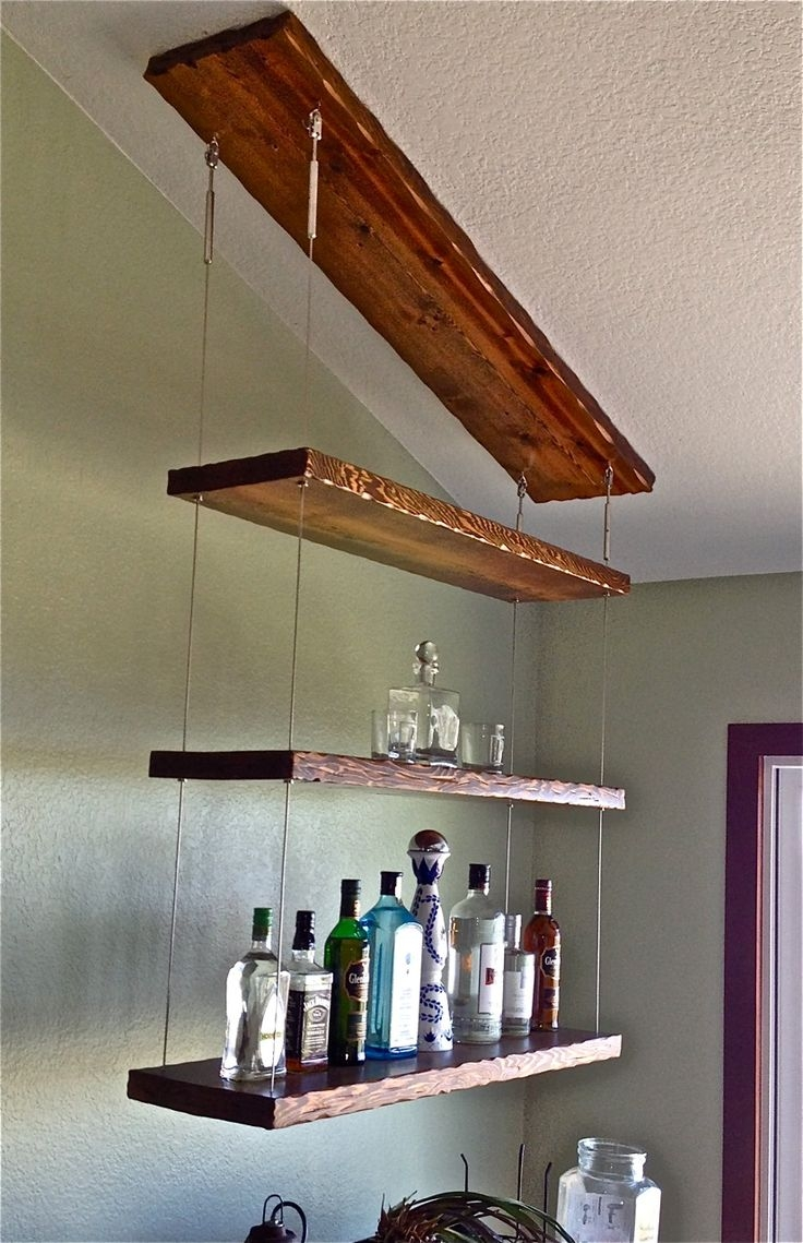 27 Best Reclaimed Shelves Images On Pinterest Regarding Cable Suspended Glass Shelves (Image 1 of 15)