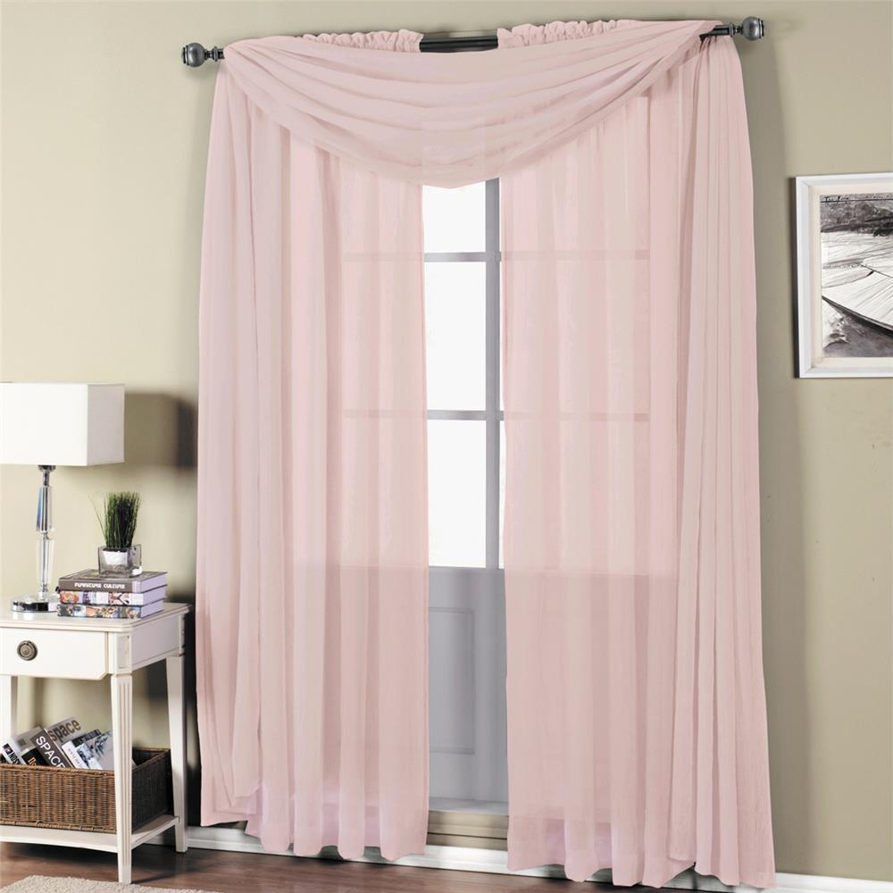 289 784 Egyptian Linens 289 784 Mauve Abri Rod Pocket Crushed In Mauve Sheer Curtains (View 7 of 25)