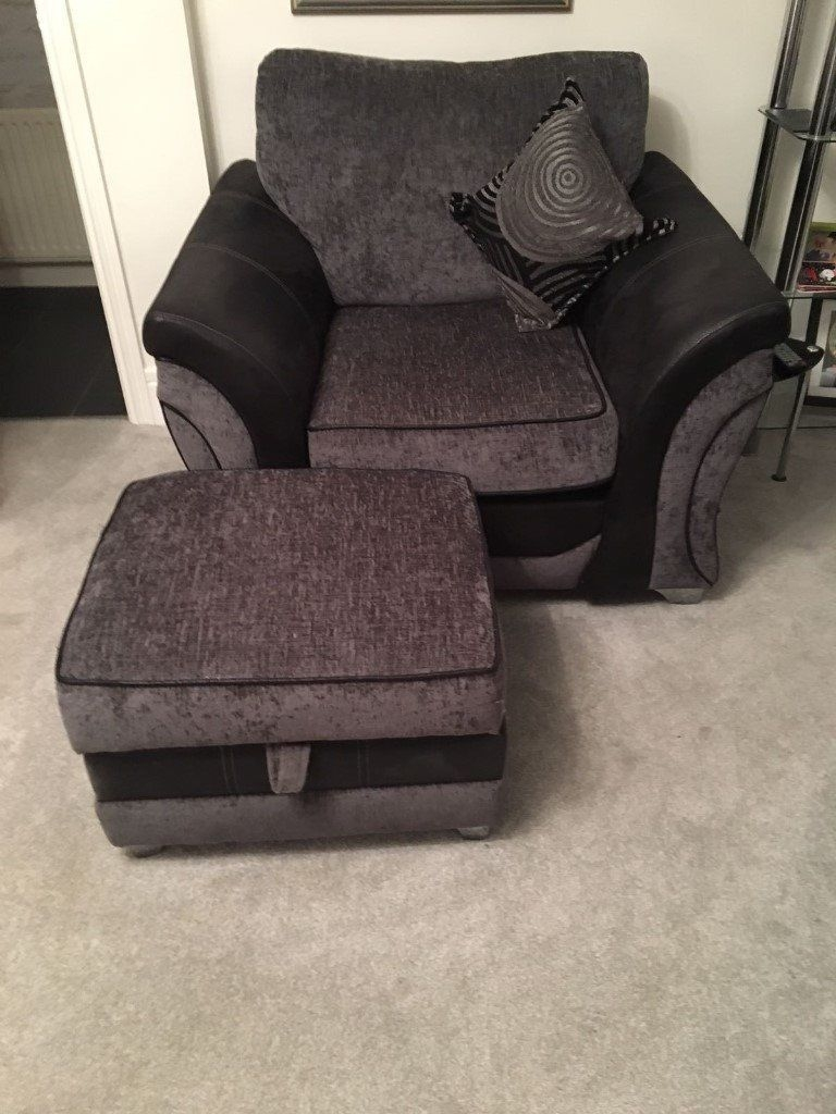 3 Seater Sofa 1 Cuddle Chair With Audio And Chair And Footstool In 3 Seater Sofa And Cuddle Chairs (Image 1 of 15)