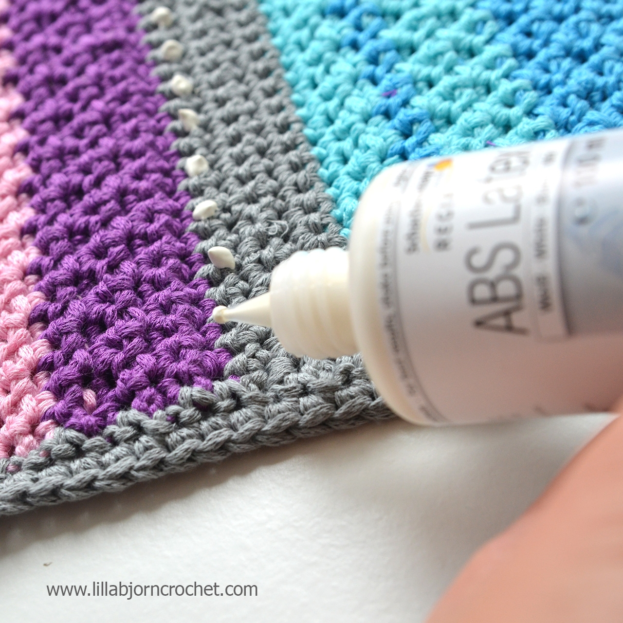 3 Ways To Make Crocheted Rugs Non Slip Lillabjrns Crochet World Pertaining To Non Slip Rugs (Image 1 of 15)