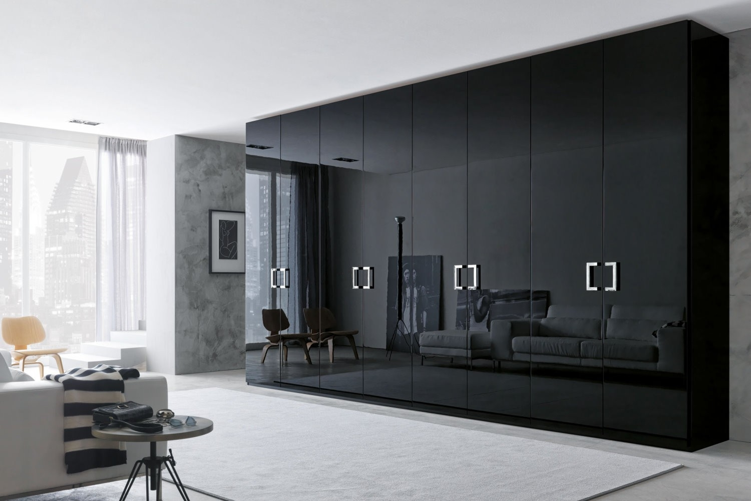 35 Modern Wardrobe Furniture Designs Wardrobe Design Gray Inside Dark Wardrobes (Image 1 of 15)