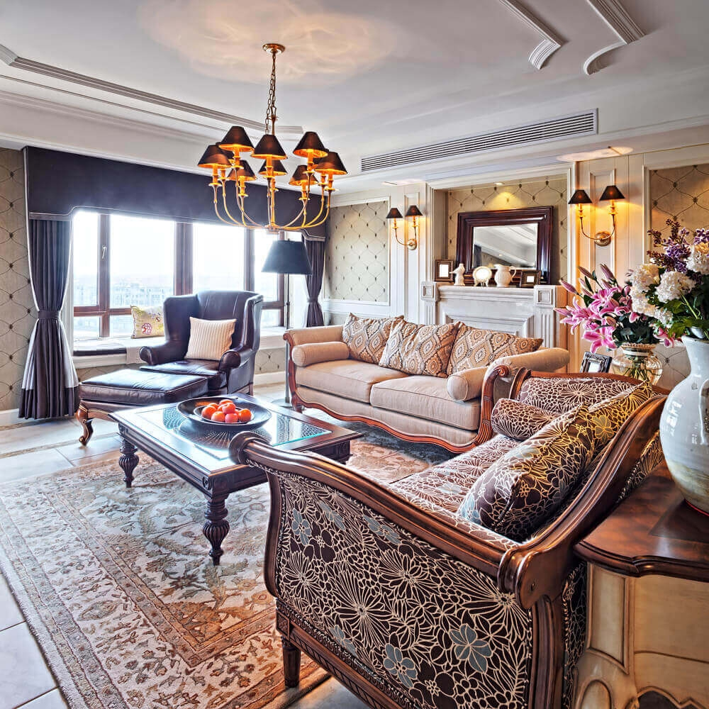 36 Elegant Living Rooms That Are Richly Furnished Decorated Inside Elegant Sofas And Chairs (Image 1 of 15)