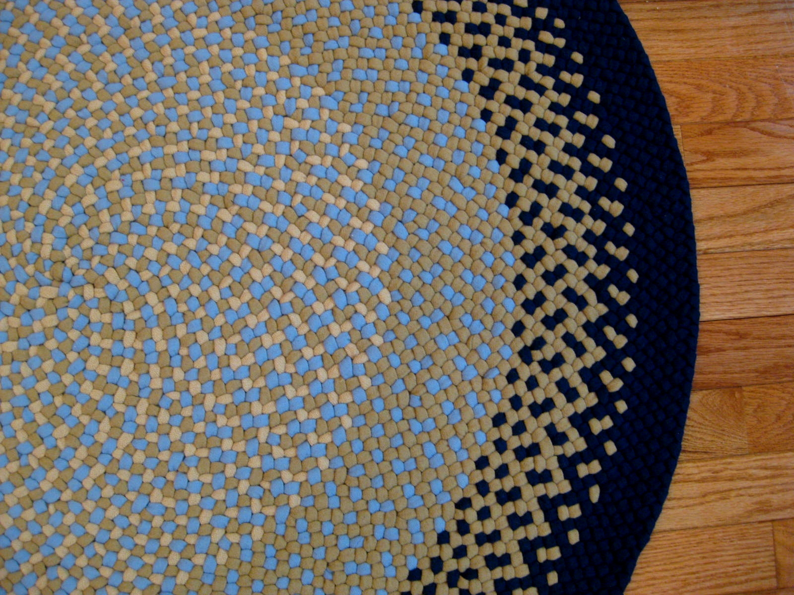36 Round Wool Braided Rug Country Braid House For Round Wool Rugs (Image 1 of 15)