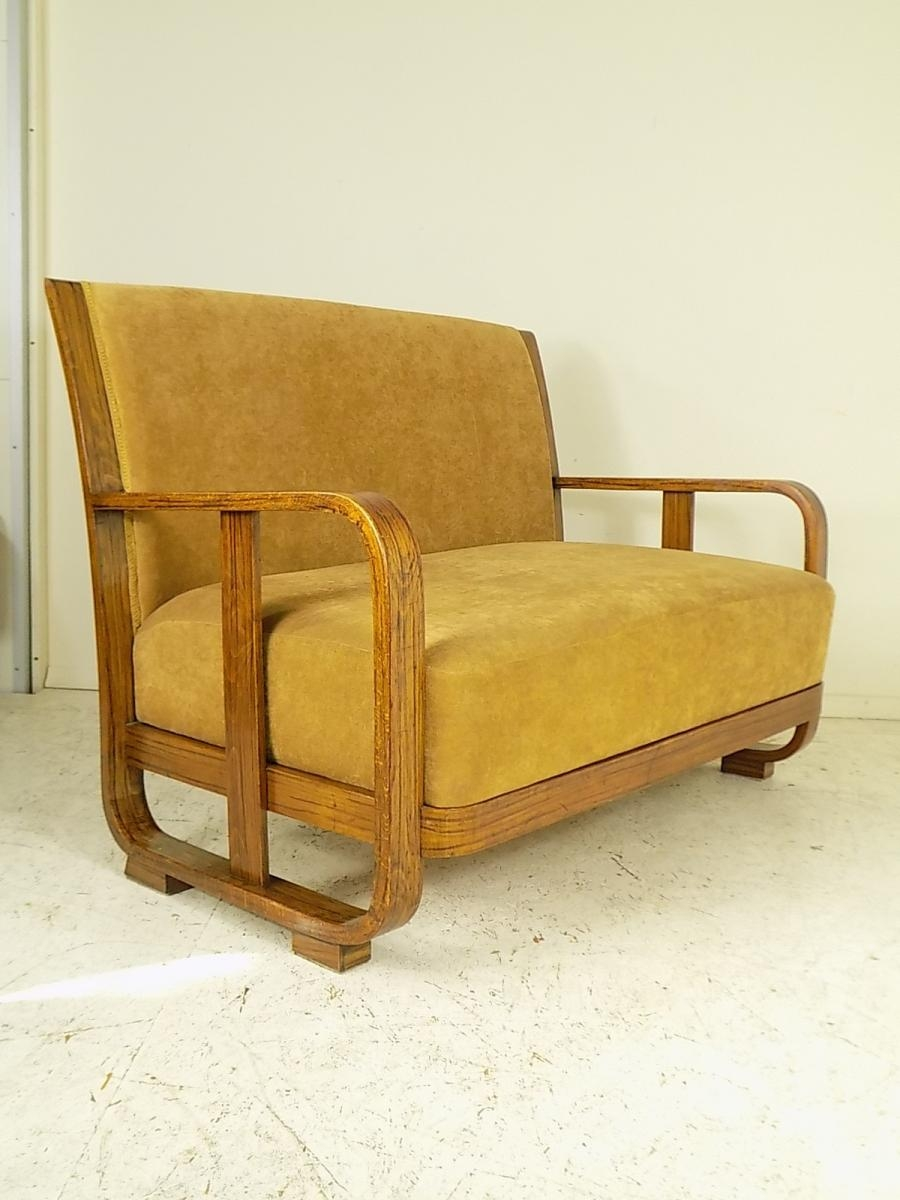 4 Chairs And Sofa Stefan Sienicki For Thonet 1930s For Sale At Intended For 1930s Couch (Photo 10 of 15)