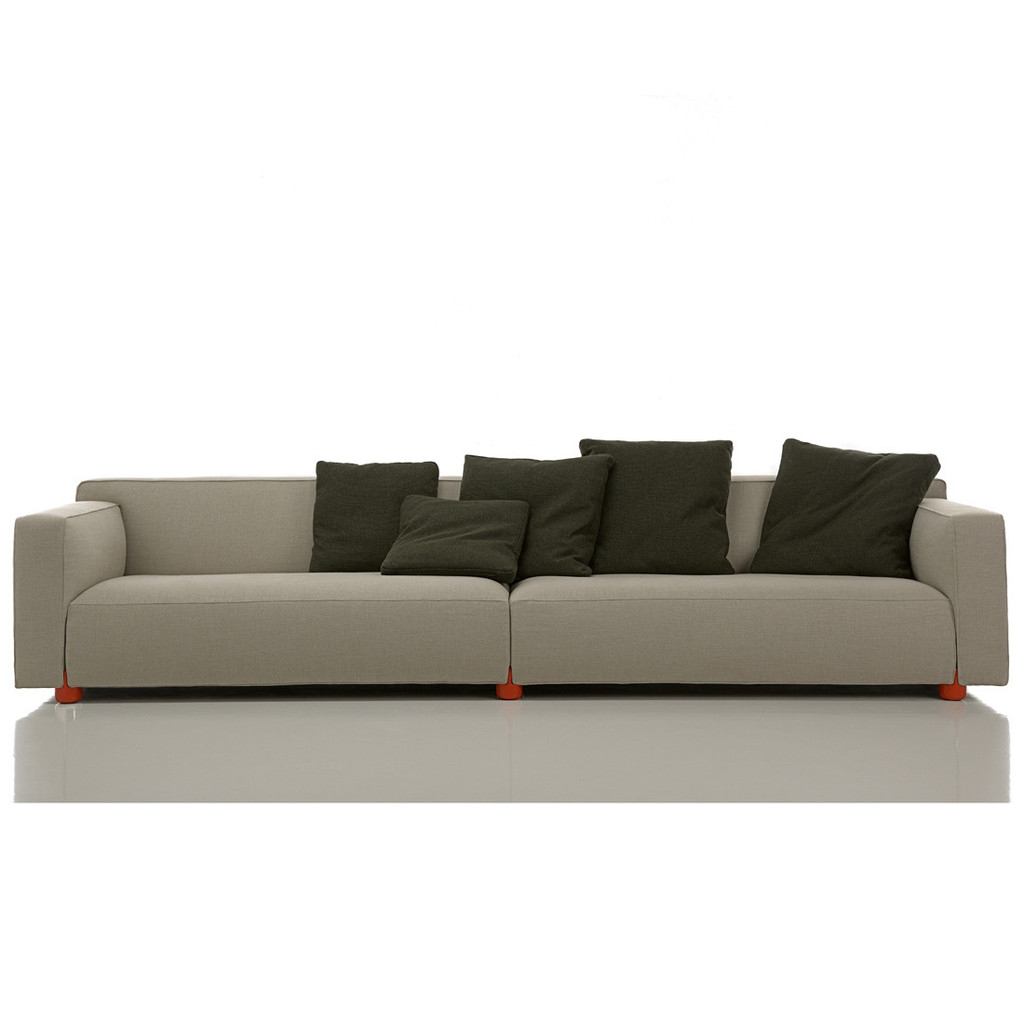 4 Seater Sofa For Large And Trendy Living Room With Four Seat Sofas (Image 1 of 15)