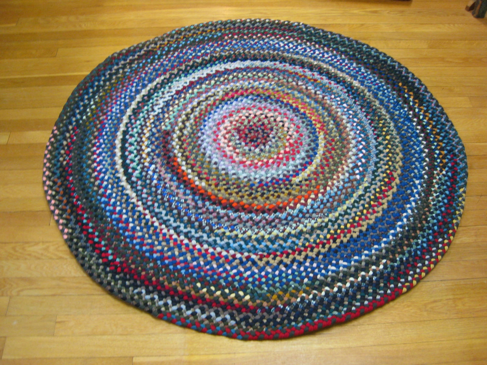 45 Wool Round Braided Rug Country Braid House Throughout Round Wool Rugs (Image 2 of 15)