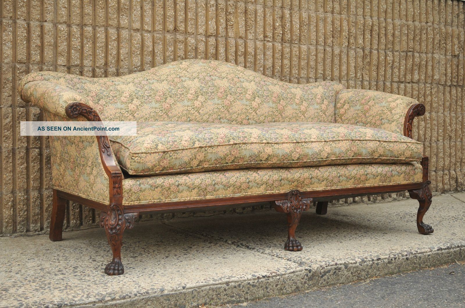 46 Antique Sofas Antique Mid Century Deco Vintage Sofa Green With Regard To Vintage Sofa Styles (View 7 of 15)