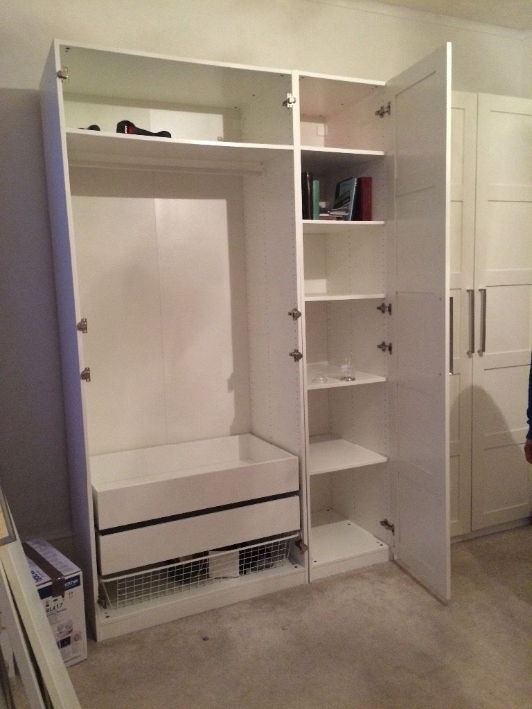5 Door Ikea Wardrobe With Drawers And Shelves Inside In Regarding Wardrobes With Shelves And Drawers (Image 1 of 15)