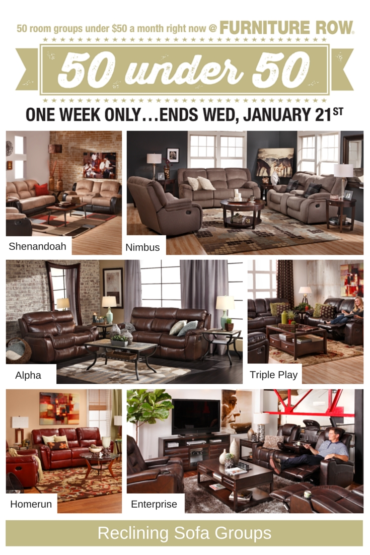 50 Under 50 Sale At Furniture Row Front Door For Sofa Mart Chairs (Image 2 of 15)