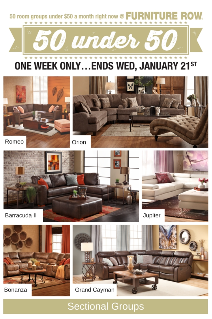 50 Under 50 Sale At Furniture Row Front Door Inside Sofa Mart Chairs (Image 4 of 15)