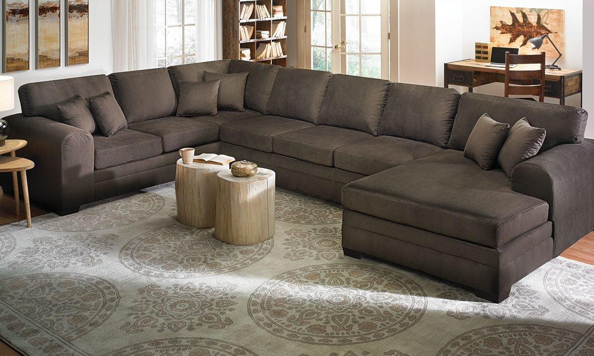53 Oversized Sectional Sofas Oversized Couches Oversized Deep With Huge Sofas (Image 1 of 15)