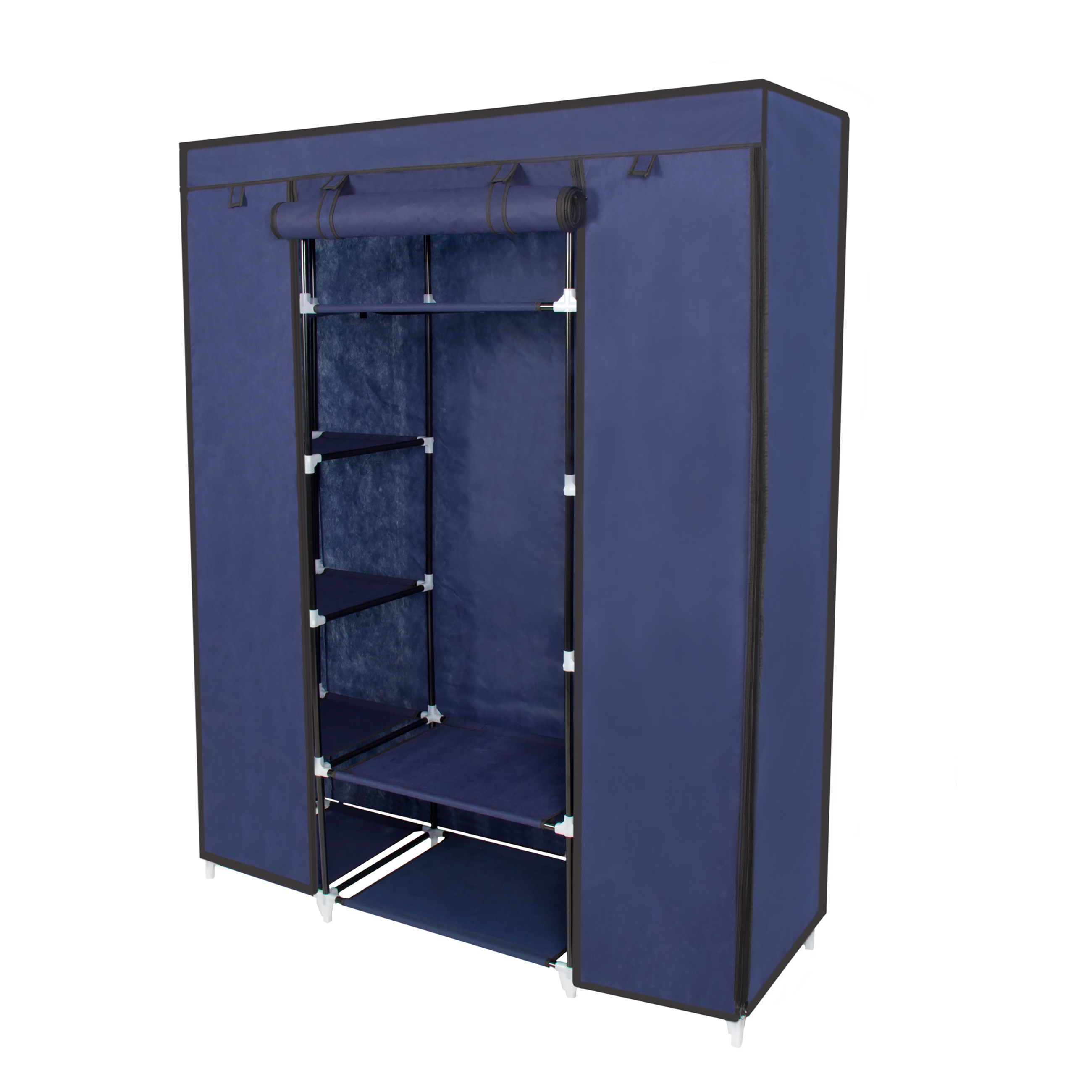 53 Portable Closet Storage Organizer Wardrobe Clothes Rack Pertaining To Mobile Wardrobe Cabinets (Image 2 of 25)
