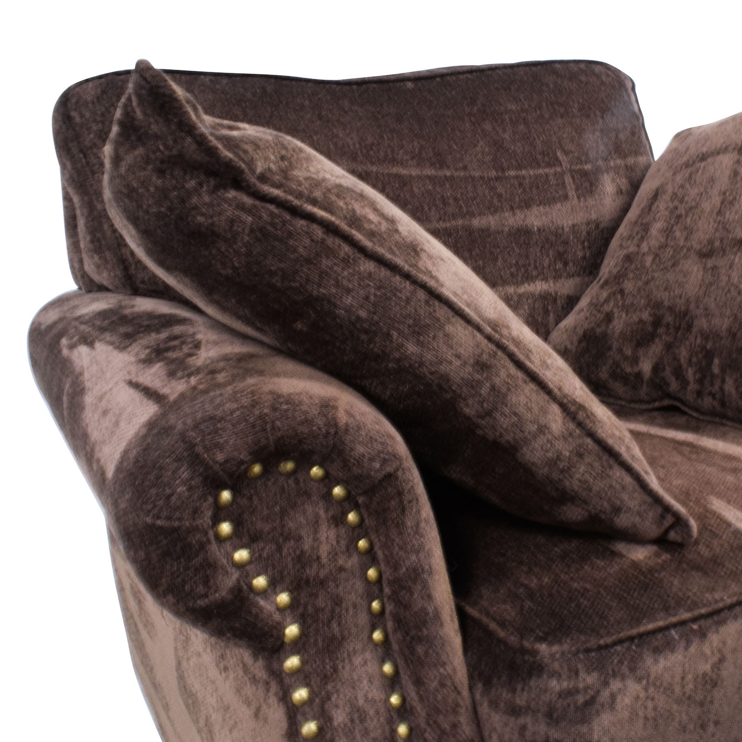 55 Off Bobs Furniture Bobs Furniture Mirage Studded Brown In Brown Sofa Chairs (Image 1 of 15)