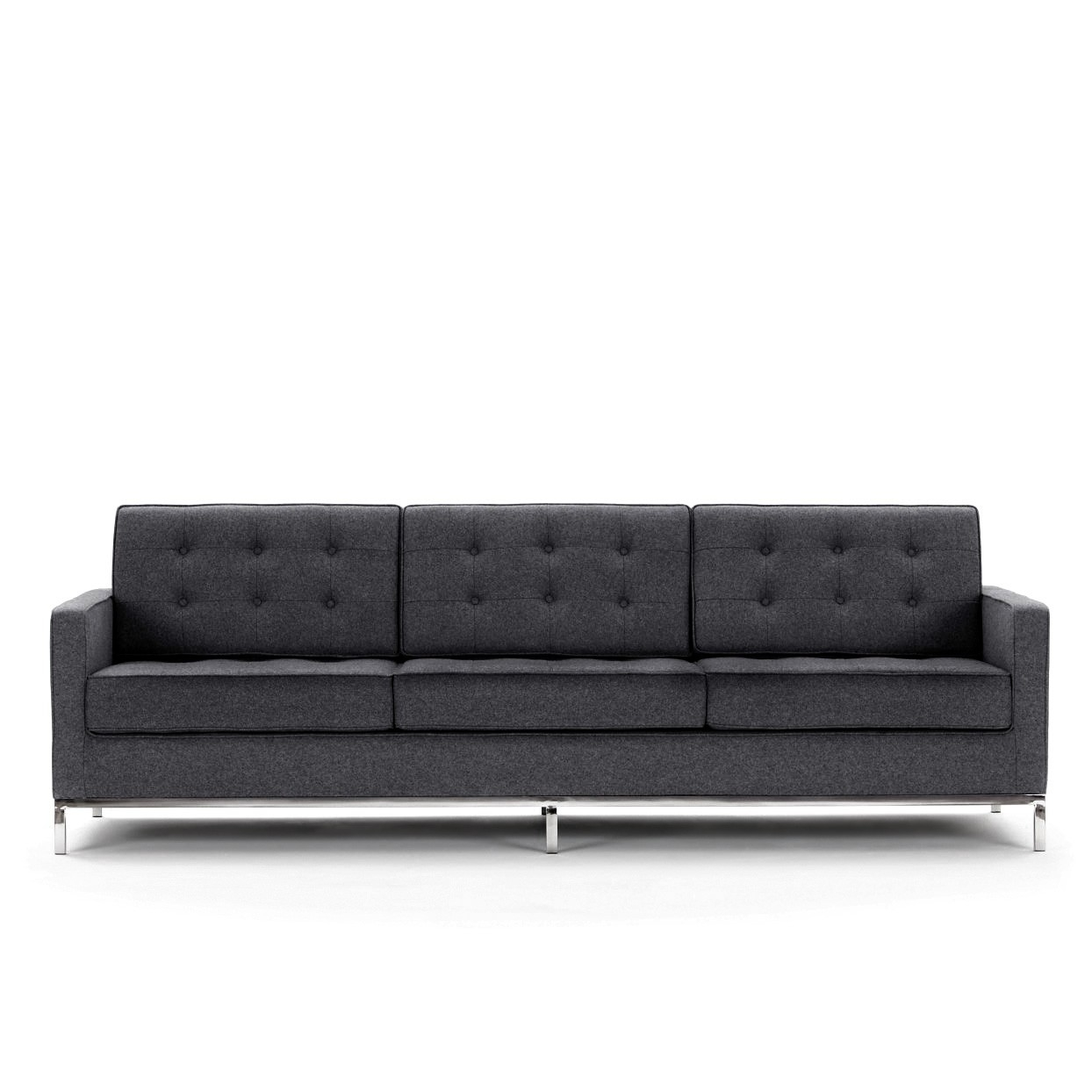 57 Florence Knoll Sofa For Modern Florence Knoll Sofa Fabric In Florence Knoll Fabric Sofas (Image 1 of 15)