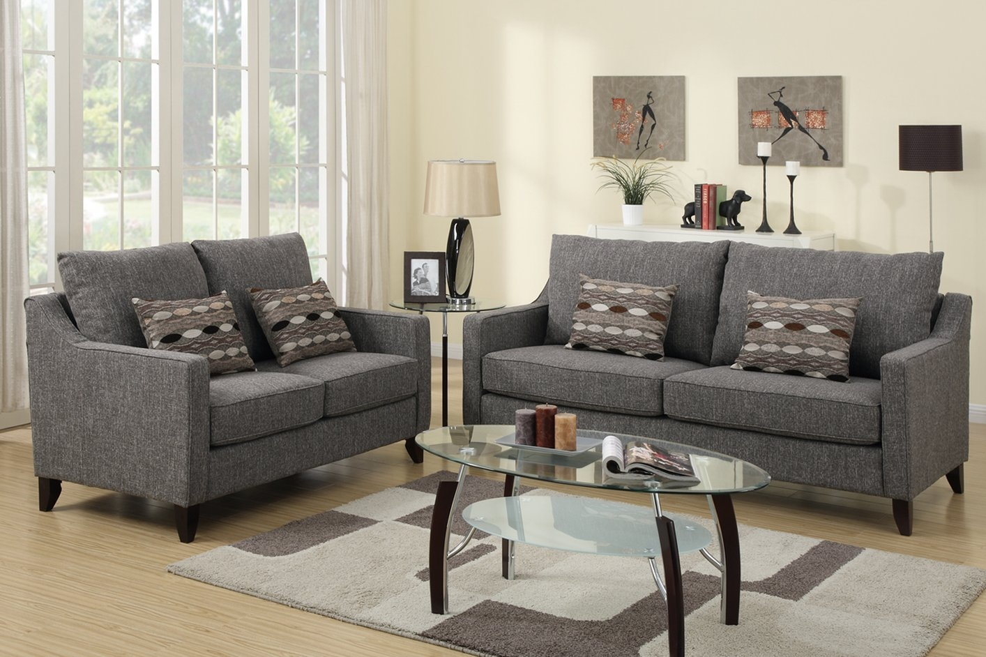 60 Loveseat Sofa Berkely Tufted Sofa And Loveseat Set Sofa Sets Throughout Sofa Loveseat And Chairs (Image 1 of 15)