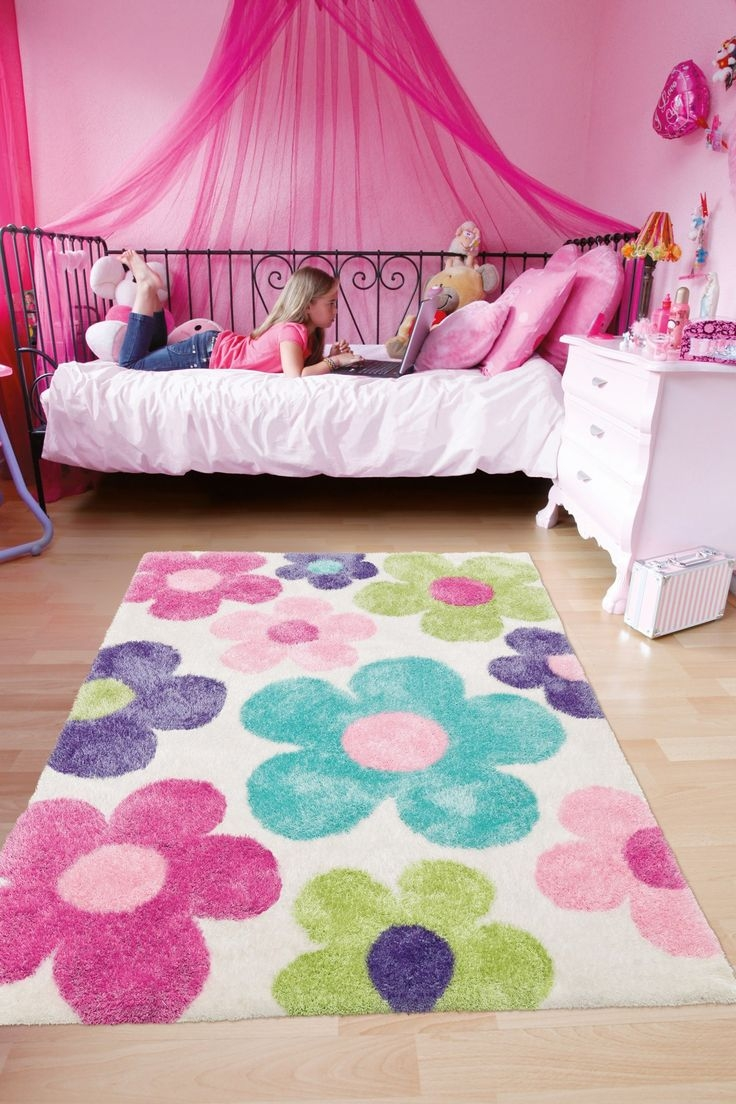 65 Best Meisjeskamer Roze Pink Girls Room Images On Pinterest Within Girls Floor Rugs (Image 1 of 15)