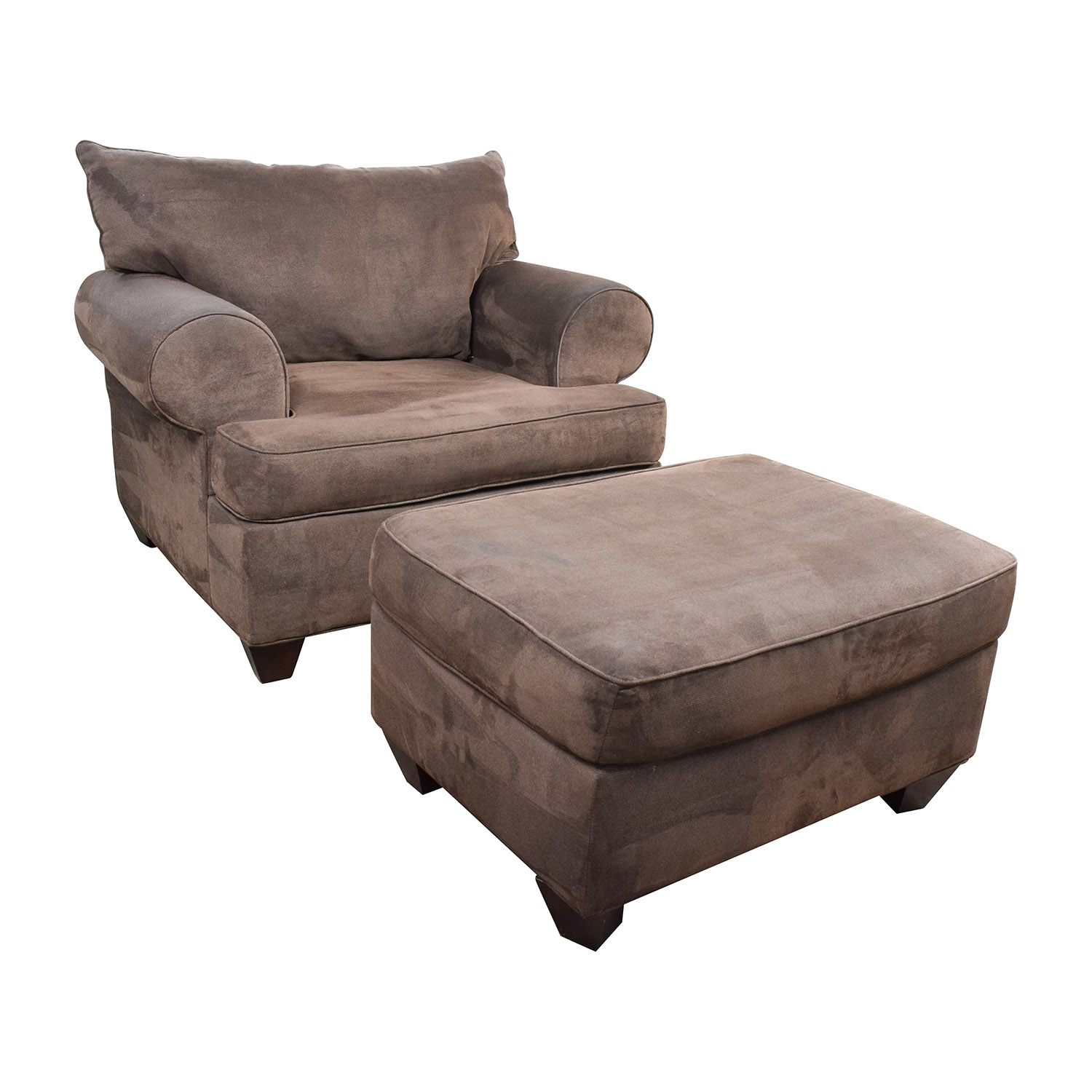 67 Off Dark Brown Sofa Chair With Ottoman Chairs Inside Brown Sofa Chairs (Image 5 of 15)