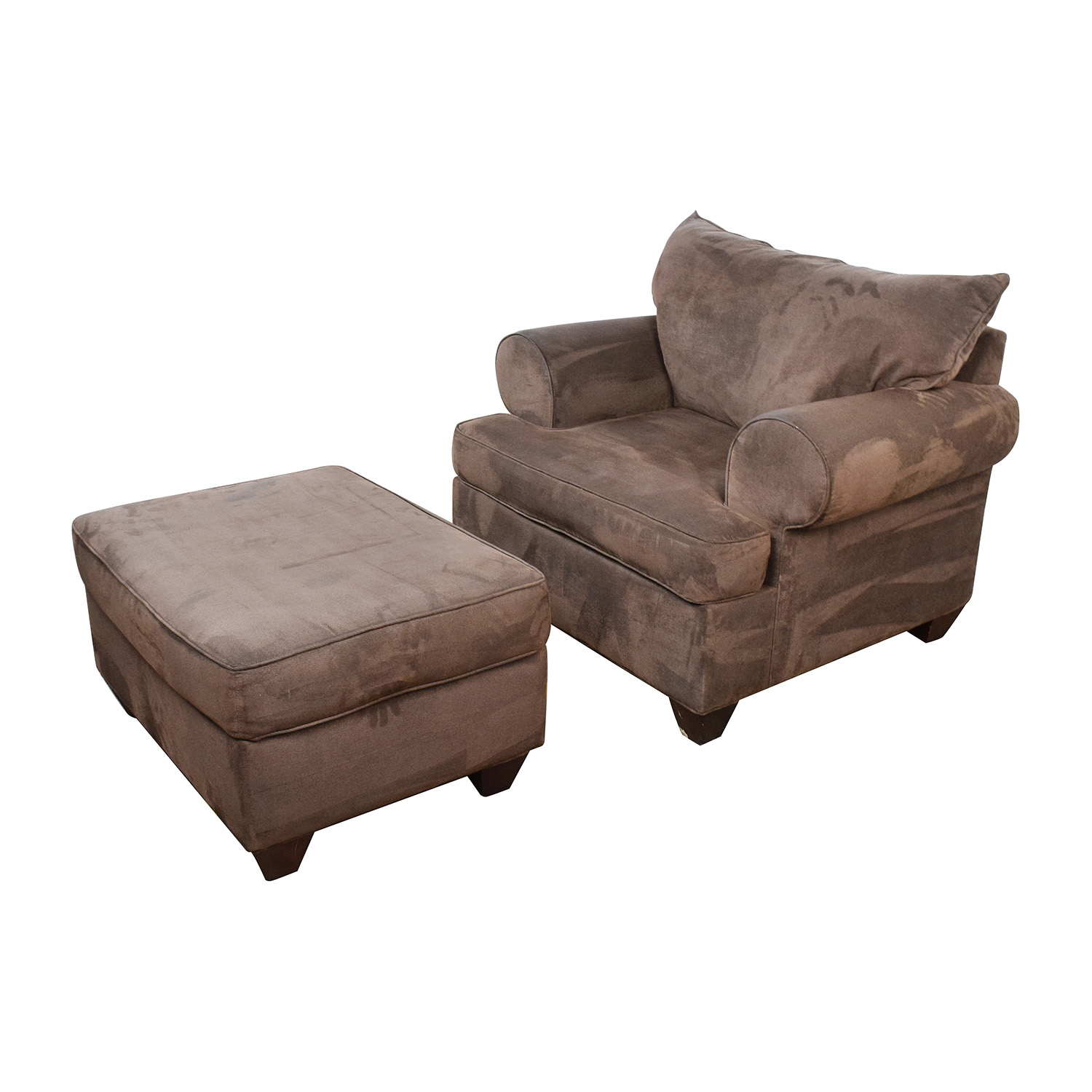 67 Off Dark Brown Sofa Chair With Ottoman Chairs Within Brown Sofa Chairs (Image 6 of 15)