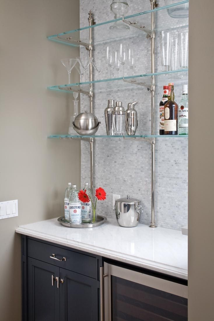 7 Best Glass Bistro Shelving Images On Pinterest Intended For Glass Shelves For Bar Area (Image 2 of 15)