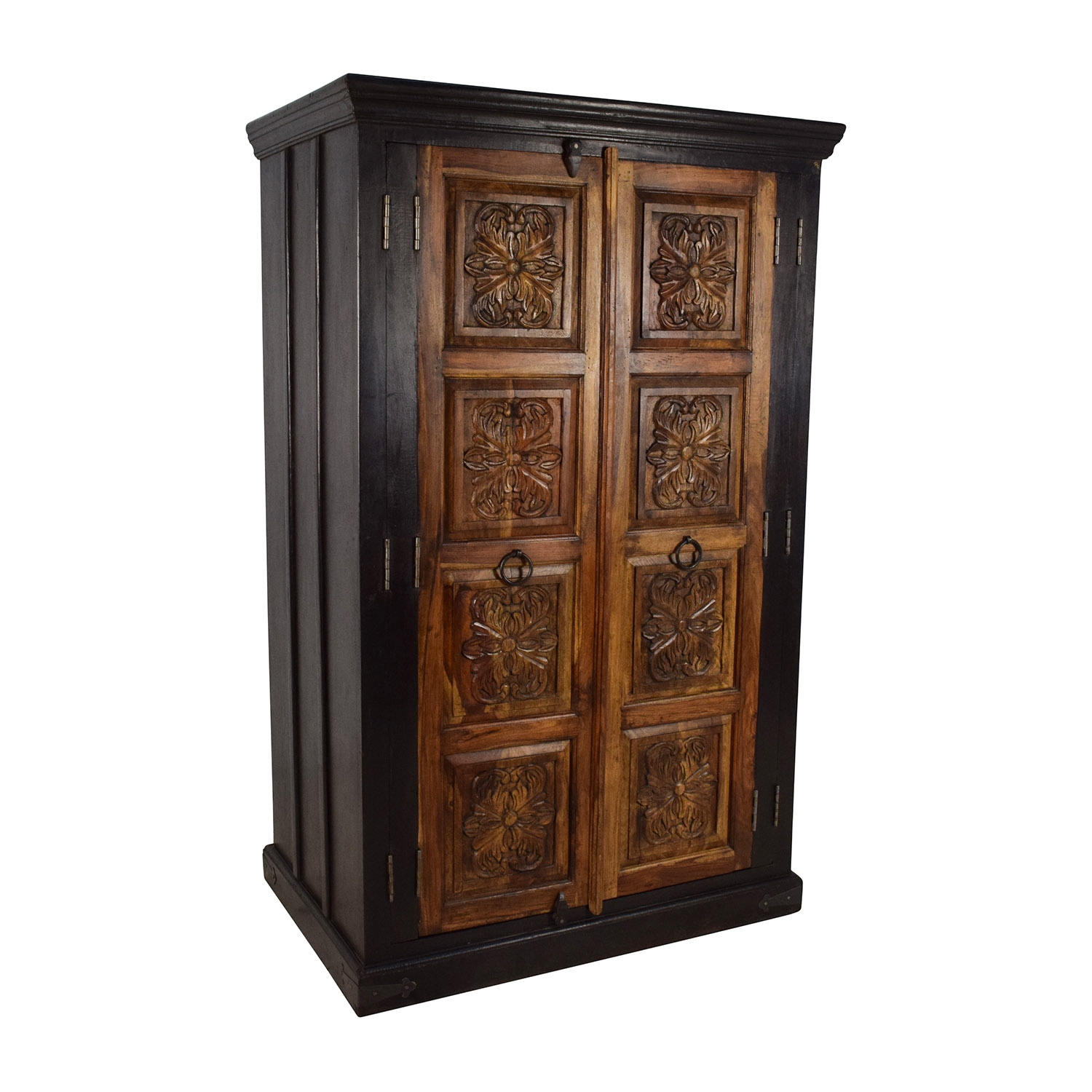 74 Off Large Carved Wooden Armoire Storage In Large Wooden Wardrobes (Image 2 of 25)