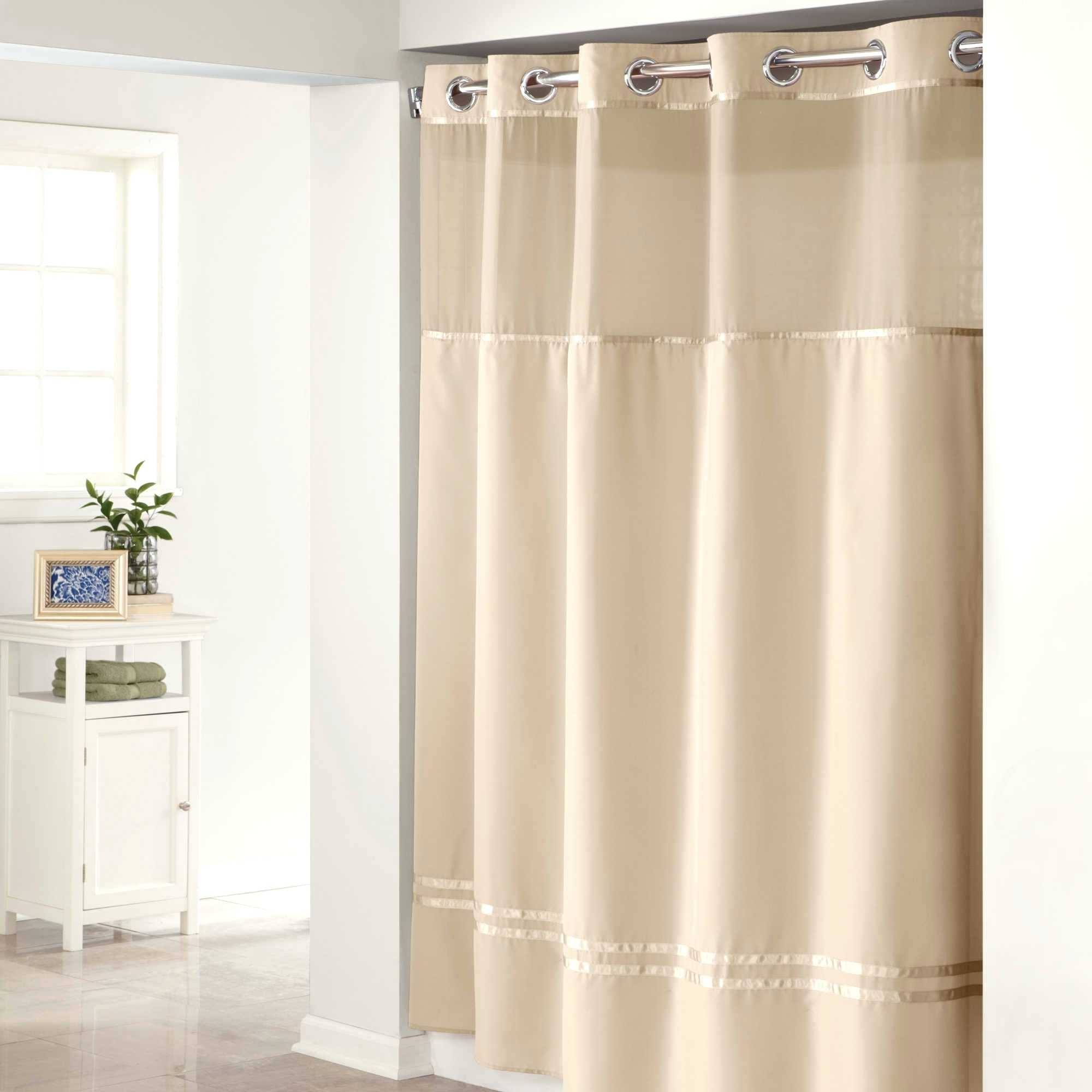 84 Inch Hookless Shower Curtain Curtains Decoration Pertaining To Hookless Fabric Shower Curtain Liner (Image 1 of 25)