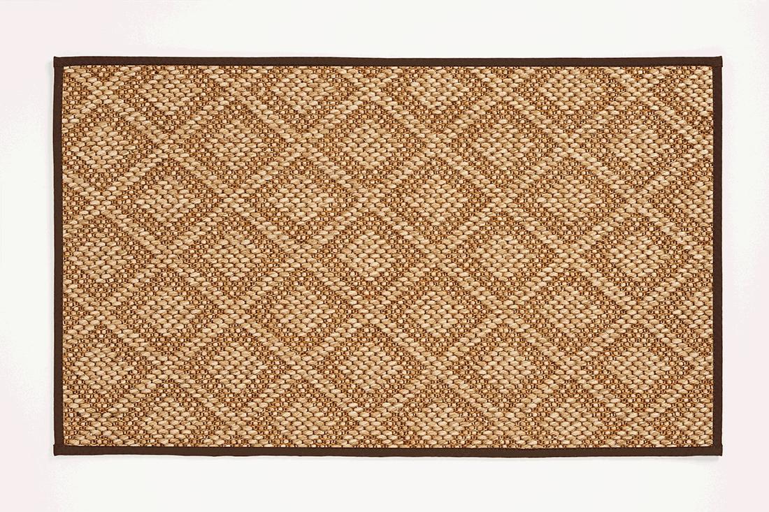 8×10 Indian Summer Kenya Patterned Sisal Rug With Chocolate Narrow In Sissel Rugs (Photo 6 of 15)