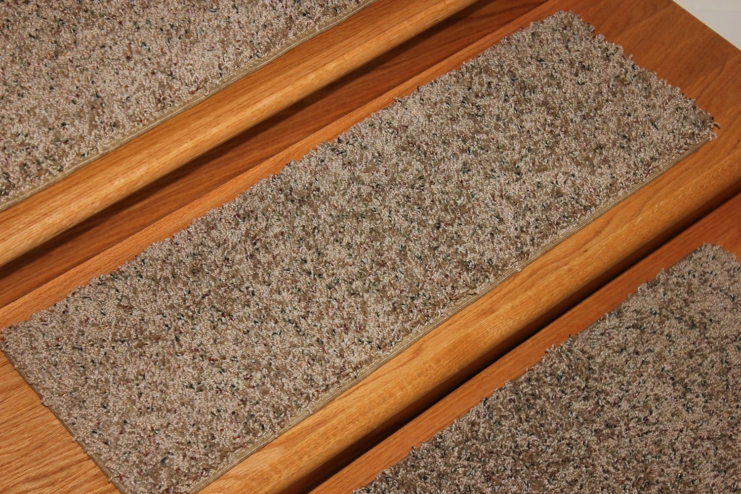 8×24 Dog Assist Carpet Stair Treads Painted Tan Within Carpet Stair Treads For Dogs (Image 1 of 15)