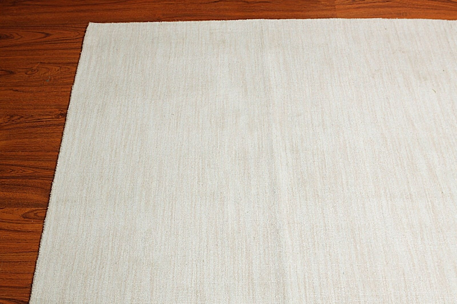 9×12 Custom Made Handmade Plain Textured Area Rug Carpet Ivory Pertaining To Custom Made Area Rugs (Image 1 of 15)