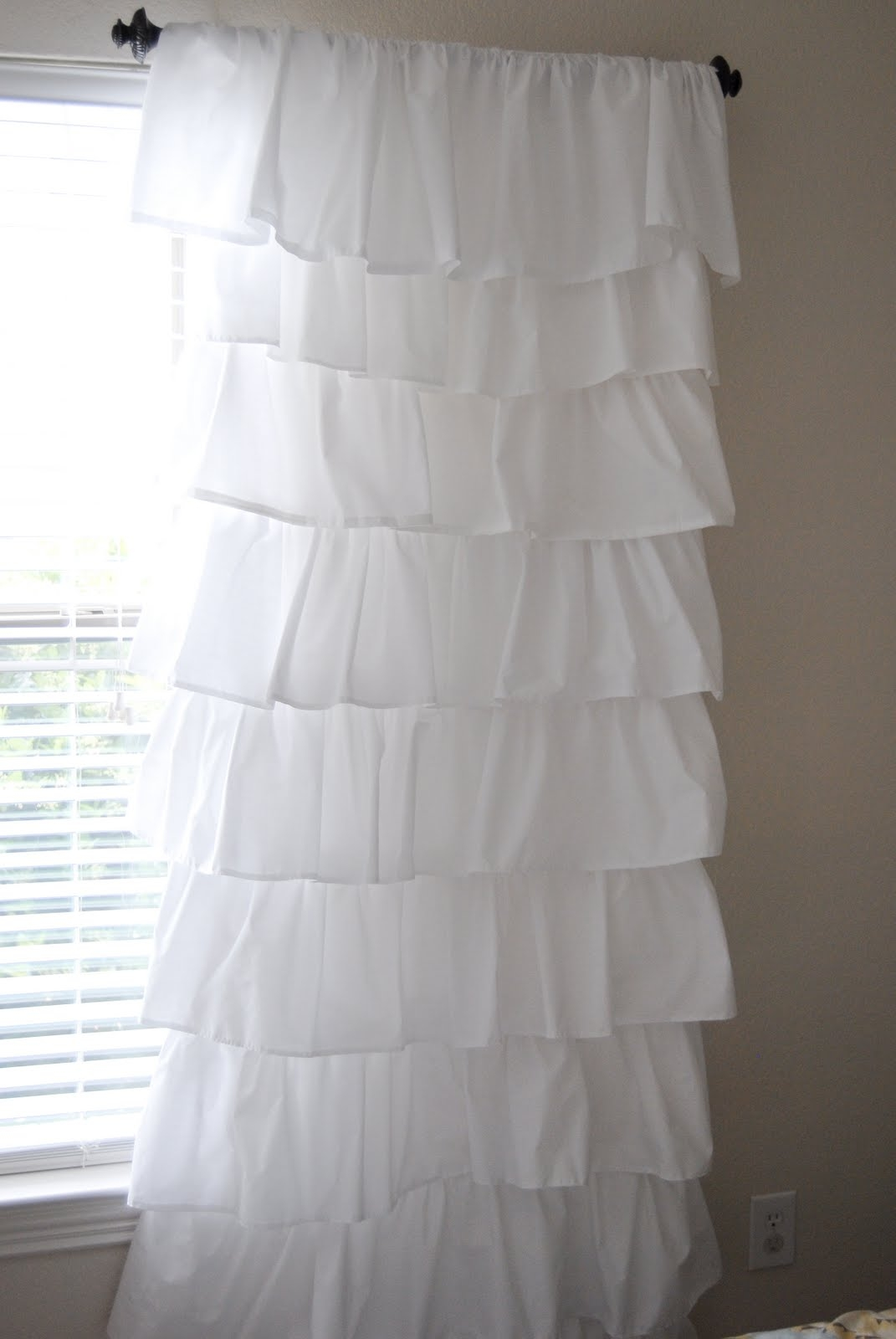 A Boy A Girl And A Pug 8 Ruffle Curtain Tutorial Pertaining To White Ruffle Curtains (View 8 of 25)