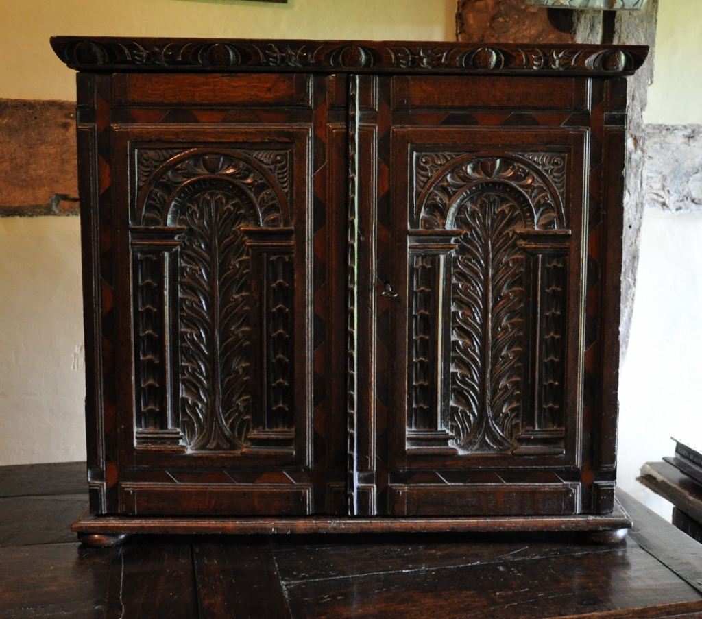 A Fine Charles Ii Oak And Inlaid Table Cabinet Circa 1660 Regarding Table Cupboards (Image 2 of 25)