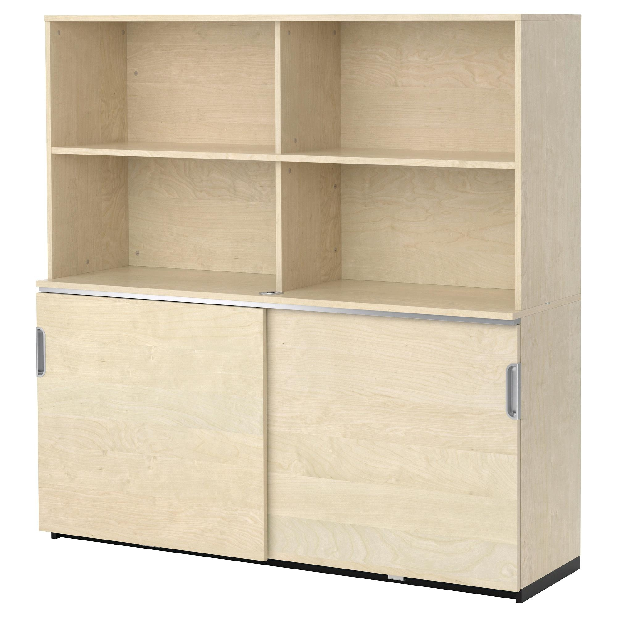 A White Tyngen Bathroom Storage Cabinet With Shelves And Intended For Large Cupboard With Shelves (Image 3 of 25)