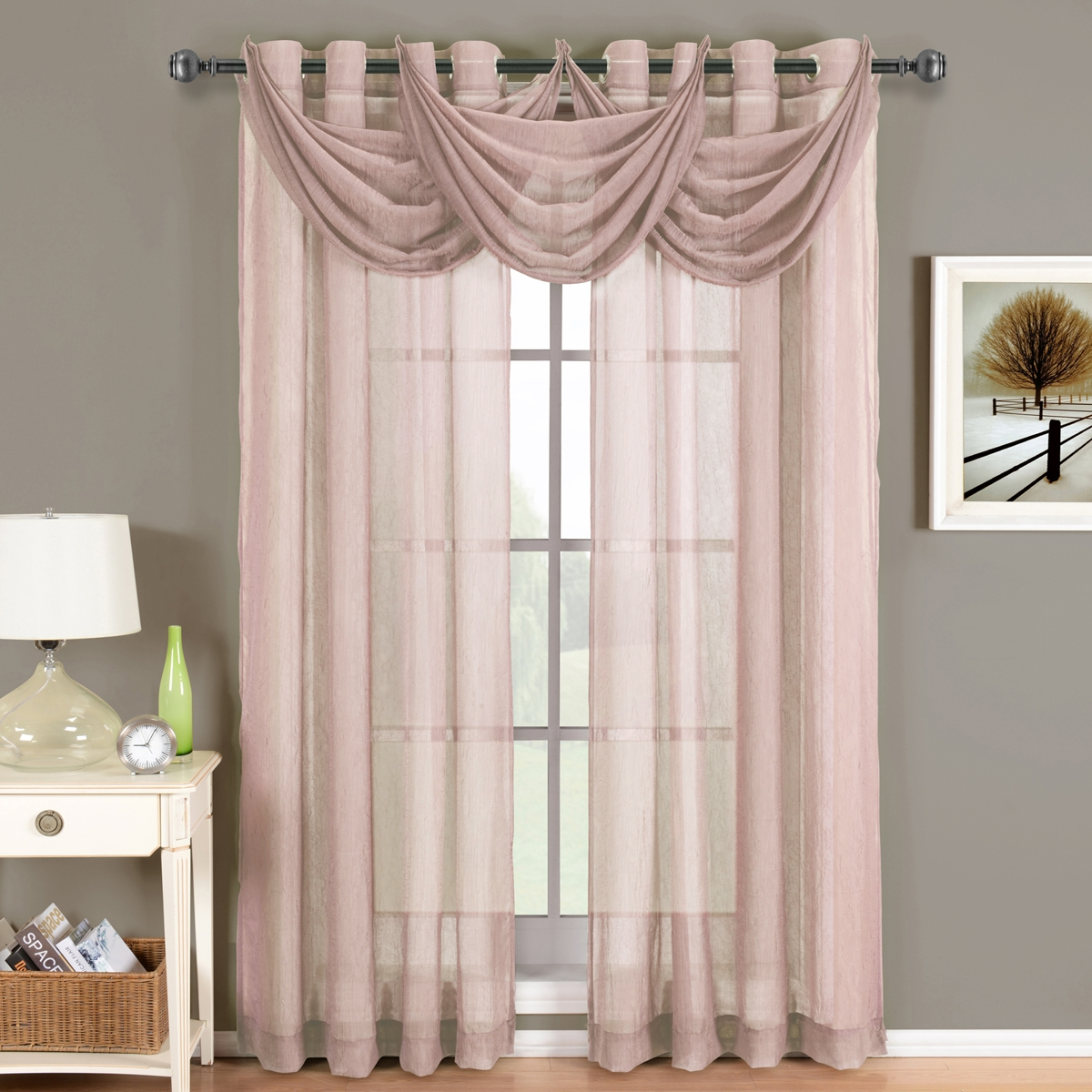 Featured Image of Mauve Sheer Curtains
