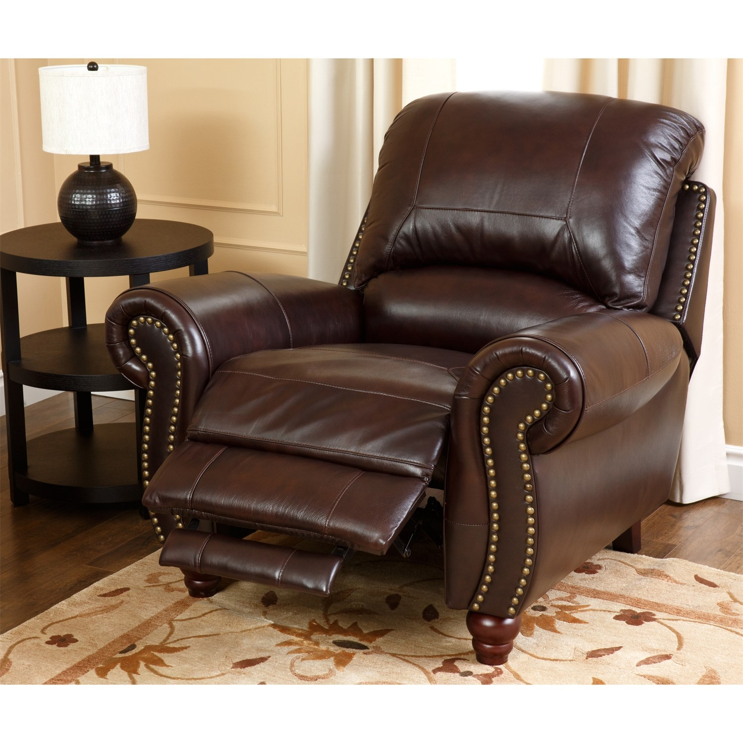 Abson Living Ch 8857 Brg 31 Canterbury Leather Pushback Pertaining To Canterbury Leather Sofas (Image 1 of 15)